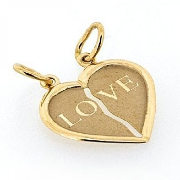 "Кулон ""Сердце"" из желтого золота"