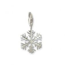 Кулон 'Снежинка' из белого золота..