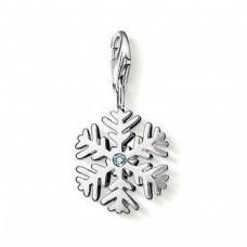 Кулон 'Снежинка' из белого золота с бриллиантом..
