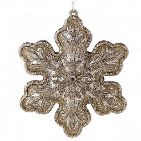 Кулон 'Снежинка' из красного золота с бриллиантами