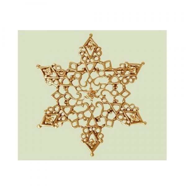 Кулон 'Снежинка' из желтого золота