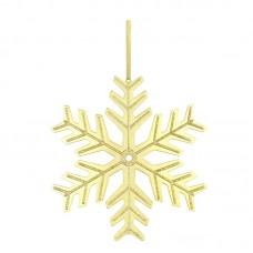 Кулон 'Снежинка' из желтого золота..
