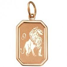 "Кулон ""Зодиак - Лев"" из красного золота.."