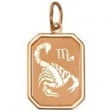"Кулон ""Зодиак - Скорпион"" из красного золота.."