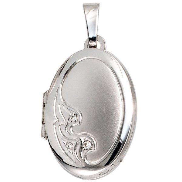 Медальон из белого золота