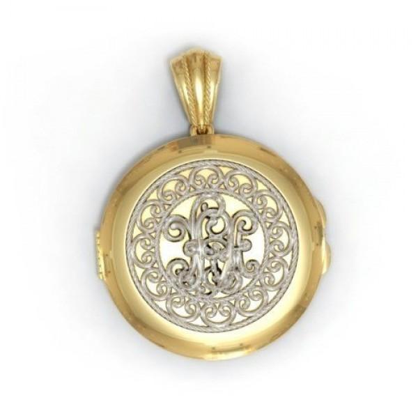 Медальон из комбинированного золота