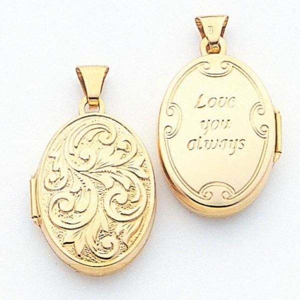 Медальон из красного золота