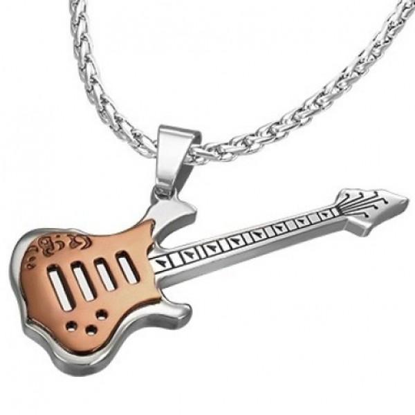 """Подвес """"Гитара"""" из комбинированного золота"""