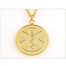 Подвес из желтого золота с символом медицины..