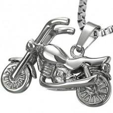 "Подвес ""Мотоцикл"" из белого золота.."