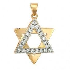 Звезда Давида из комбинированного золота с бриллиантами..