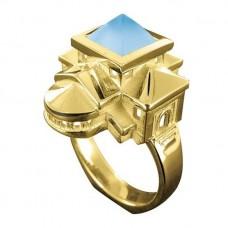 Кольцо из желтого золота 'Домики'..