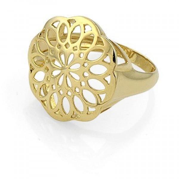 Кольцо из желтого золота с узором