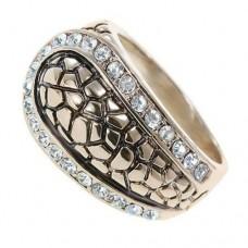 Кольцо мужское из красного золота с бриллиантами..