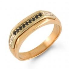 Печатка из красного золота с бриллиантами..