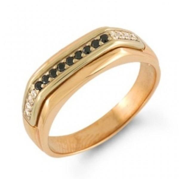 Печатка из красного золота с бриллиантами