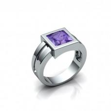 Перстень из белого золота с аметистом..
