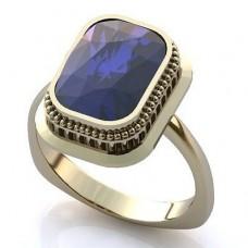 Перстень из белого золота с сапфиром..