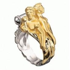 Перстень из комбинированного золота..