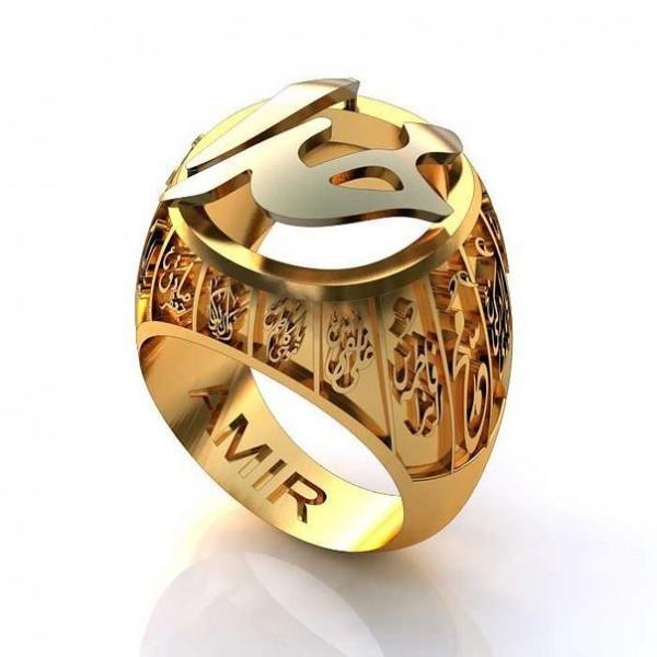 Перстень из комбинированного золота