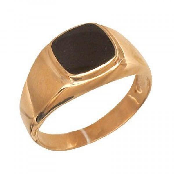 Перстень из красного золота с агатом