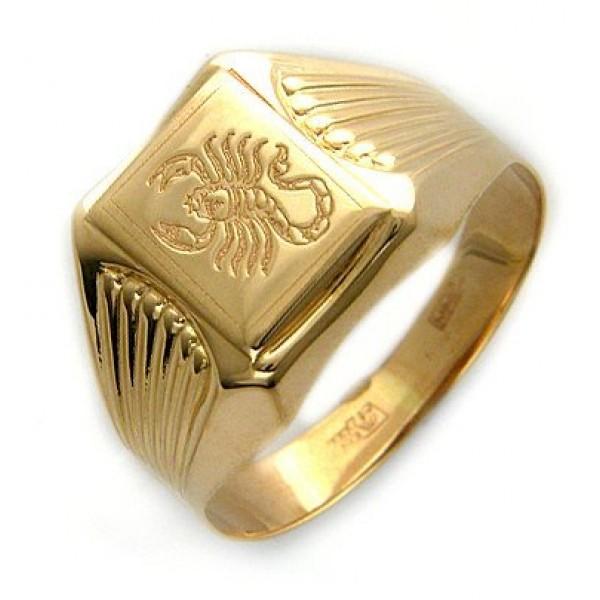 Перстень из желтого золота