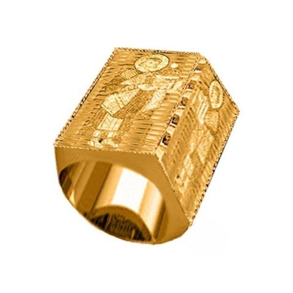 Перстень из желтого золота с ликом