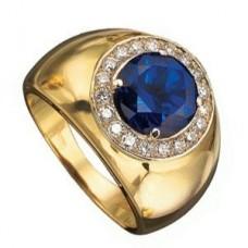 Перстень из желтого золота с сапфиром..
