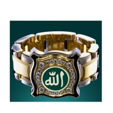 Перстень 'Мусульманский' из комбинированного золота с бриллиантами и э..
