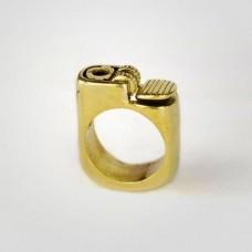 Перстень 'Зажигалка' из желтого золота..