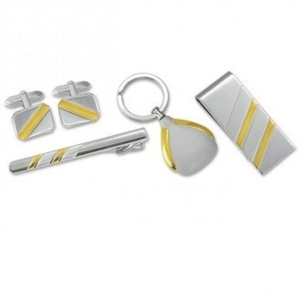 Подарочный гарнитур из комбинированного золота: Зажим для галстука