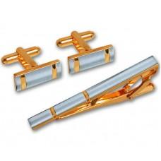 Подарочный гарнитур: Зажим для галстука из комбинированного золота..