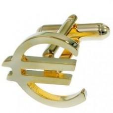 """Запонки """"Euro"""" из желтого золота.."""