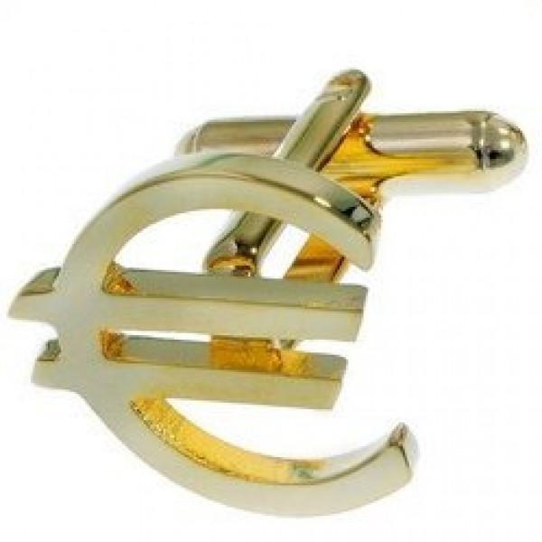 """Запонки """"Euro"""" из желтого золота"""