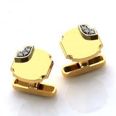 Запонки из желтого золота с бриллиантами..