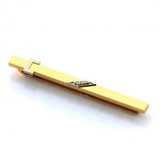 Зажим для галстука из комбинированного золота с бриллиантами..