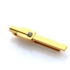 Зажим для галстука из комбинированного золота с бриллиантом..