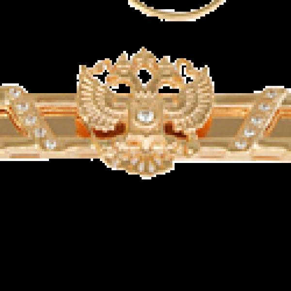 Зажим для галстука из красного золота с бриллиантами