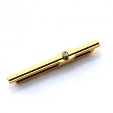 Зажим для галстука из желтого золота с бриллиантом..