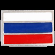 """Значок """"Флаг РФ"""" из белого золота.."""