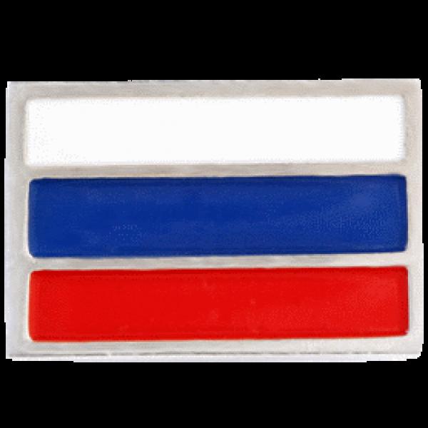 """Значок """"Флаг РФ"""" из белого золота"""