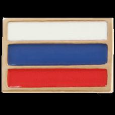 """Значок """"Флаг РФ"""" из красного золота.."""