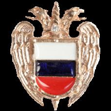 """Значок """"Герб ФСО РФ"""" из красного золота с бриллиантом.."""