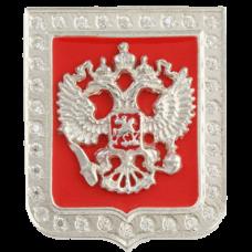"""Значок """"Герб РФ"""" из белого золота.."""