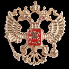"""Значок """"Герб РФ"""" из красного золота.."""