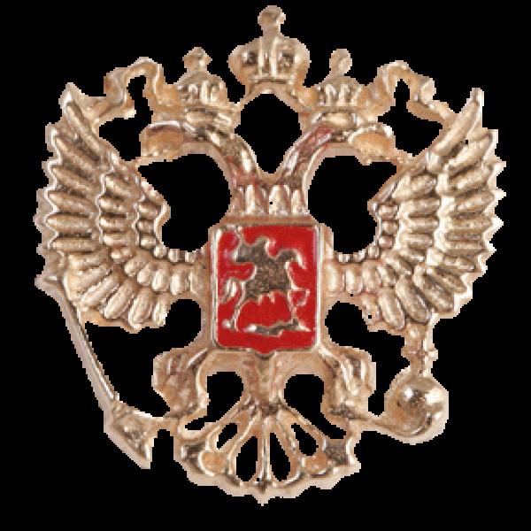 """Значок """"Герб РФ"""" из красного золота"""