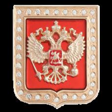 "Значок ""Герб РФ"" из красного золота с бриллиантами.."