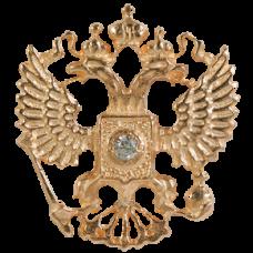 """Значок """"Герб РФ"""" из красного золота с бриллиантом.."""