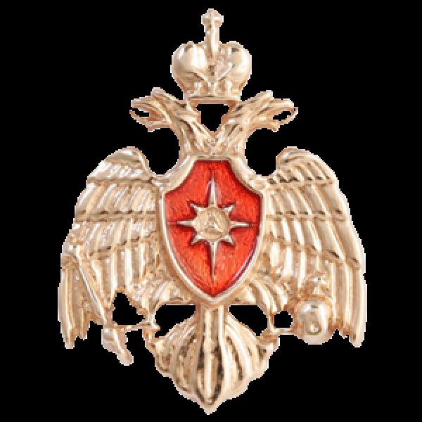 """Значок """"МЧС РФ"""" из красного золота"""